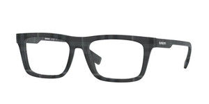 BURBERRY BE2298 3804 Charcoal Check Rectangle Square Men's 54 mm Eyeglasses