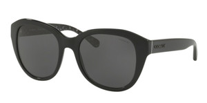 COACH HC8231F 551087 Black Round Square Women's 54 mm Sunglasses