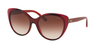 COACH HC8260F 553213 Burgundy Cat Eye Women's 55 mm Sunglasses