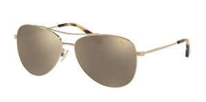 COACH HC7079 90056G Light Gold Aviator Women's 58 mm Sunglasses