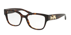 COACH HC6126 5417 Havana Square Women's 52 mm Eyeglasses