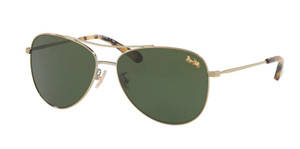COACH HC7079 932271 Gold Pilot Women's 58 mm Sunglasses