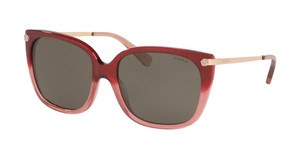 COACH HC8272 55513 Burgundy Square Women's 56 mm Sunglasses