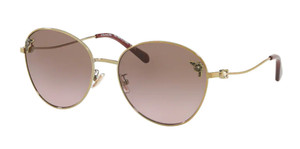 COACH HC7097B 900514 Light Gold Round Metal Women's 59 mm Sunglasses