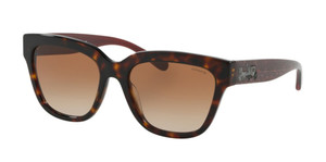 COACH HC8262F 512013 Tortoise Square Women's 55 mm Sunglasses