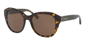 COACH HC8231F 550773 Tortoise Square Round Women's 54 mm Sunglasses