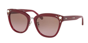 COACH HC8266H 552614 Burgundy Square Women's 53 mm Sunglasses