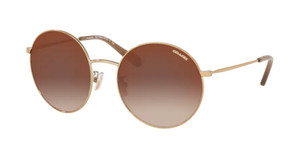 COACH HC7078 9005AO Light Gold Round Women's Metal 56 mm Sunglasses