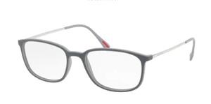 PRADA VPS 03H VIM-1O1 Grey Rubber Rectangle Men's 55 mm Eyeglasses
