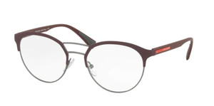 PRADA VPS 52H VHP-1O1 Bordeaux Round Men's 50 mm Eyeglasses