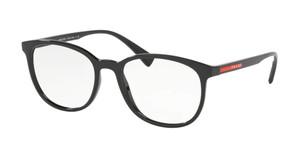 PRADA VPS 07L 1AB-1O1 Black Round Square Men's 53 mm Eyeglasses