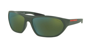 PRADA SPS 18U 536-3C0 Matte Green Pilot Men's 66 mm Sunglasses