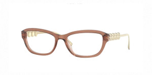 VERSACE VE3279 5325 Brown Square Rectangle Women's 52 mm Eyeglasses