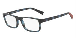 ARMANI EXCHANGE AX3046 8230 Matte Blue Rectangle Men's 54 mm Eyeglasses