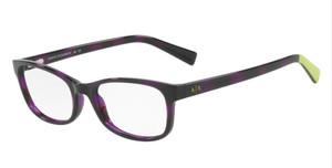 ARMANI EXCHANGE AX3043 8226 Violet Havana Rectangle Women's 53 mm Eyeglasses