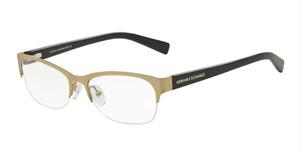 ARMANI EXCHANGE AX1016 6075 Matte Pale Gold Oval Women's 53 mm Eyeglasses