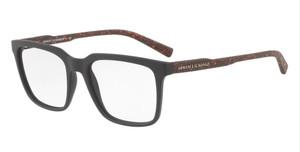 ARMANI EXCHANGE AX3045 8224 Matte Brown Square Men's 55 mm Eyeglasses