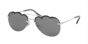 MIU MIU SMU 56U 1BC-175 Silver Pilot Women's 58 mm Sunglasses
