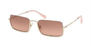 MIU MIU SMU 70U ZVN-0A5 Pale Gold Square Rectangle Women's 55 mm Sunglasses