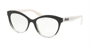 MIU MIU VMU 04R 114-1O1 Black Glitter Round Women's 51 mm Eyeglasses