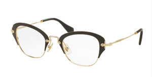 MIU MIU VMU 53O 1AB-1O1 Black Square Women's 50 mm Eyeglasses