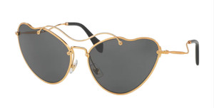 MIU MIU SMU 55R 7OE-1A1 Antique Gold Cat Eye Women's 65 mm Sunglasses