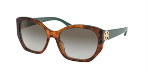 TORY BURCH TY7141 17938E Tortoise Square Women's 55 mm Sunglasses