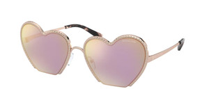 MICHAEL KORS MK1068 11084Z Rose Gold Round Women's 60 mm Sunglasses