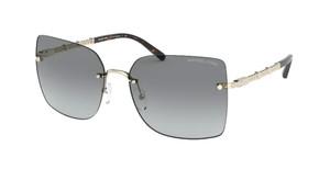 MICHAEL KORS MK1057 101411 Light Gold Square Women's 60 mm Sunglasses
