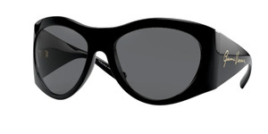 VERSACE VE4392 GB1 87 Black Pilot Women's 63 mm Sunglasses