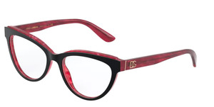 Dolce & Gabbana DG3332 3271 Top Black Cat Eye Women's 54 mm Eyeglasses
