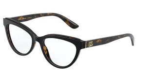 Dolce & Gabbana DG3332 3270 Havana Cat Eye Women's 52 mm Eyeglasses
