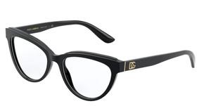 Dolce & Gabbana DG3332 501 Black Cat Eye Women's 52 mm Eyeglasses