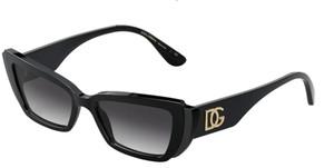 DOLCE & GABBANA DG4382 501 8G Black Rectangle Women's 54 mm Sunglasses