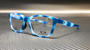 OAKLEY OX8106 0552 Polished Blue Rectangle Square Men's 52 mm Eyeglasses