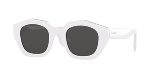 BURBERRY BE4288 300787 White Round Square Women's 46 mm Sunglasses