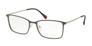 PRADA VPS 51L 368-1O1 Grey Rubber Rectangle Men's 54 mm Eyeglasses