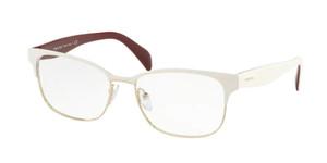 PRADA VPR 65R 282-1O1 Ivory Rectangle Women's 55 mm Eyeglasses