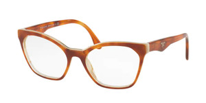 PRADA VPR 09U TH7-1O1 Light Havana Cat Eye Women's 52 mm Eyeglasses