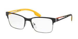 PRADA VPS 55I YDC-1O1 Black Rectangle Unisex 53 mm Eyeglasses