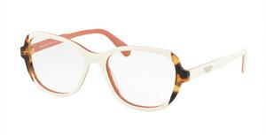 PRADA VPR 03V 0R9-1O1 Top Ivory Square Women's 52 mm Eyeglasses