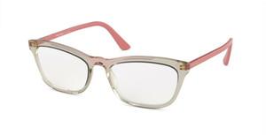 PRADA VPR 10VF 326-1O1 Pink Transparent Pillow Women's 54 mm Eyeglasses