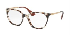 PRADA VPR 11T UAO-1O1 White Havana Square Women's 53 mm Eyeglasses