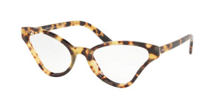 PRADA VPR 06XF 7S0-1O1 Havana Cat Eye Women's 56 mm Eyeglasses
