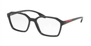 PRADA VPS 02M 1AB-1O1 Black Square Men's 55 mm Eyeglasses