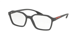PRADA VPS 02M 534-1O1 Grey Rubber Square Men's 55 mm Eyeglasses