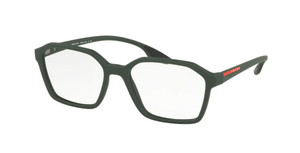PRADA VPS 02M UFI-1O1 Green Rubber Square Men's 53 mm Eyeglasses