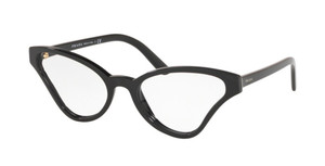 PRADA VPR 06XF 1AB-1O1 Black Cat Eye Women's 56 mm Eyeglasses
