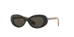 BURBERRY BE4278 3757 3 Black Oval Women's 54 mm Sunglasses