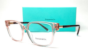 TIFFANY TF2197 8311 Pink Women's Rectangle Eyeglasses 52 mm